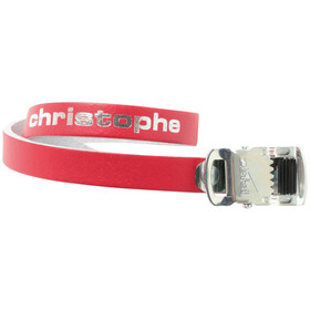 Zefal Christophe 516 Pedal Straps Leather red